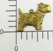 (Package Of 12) Sm. Scottish Terrier Charm (Brass Ox)