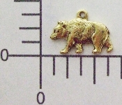 (Package Of 12) Small Bear Charm (Brass Ox)