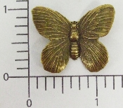 "1-1/4"" Butterfly N/R Fingding Stamping Brass Ox (Package Of 12)"