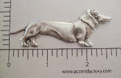 (Package Of 12) Large Daschound N/R (Matte Silver Ox)