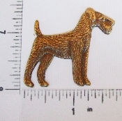 (Package Of 12) Airedale Dog Large N/R (Brass Ox)
