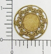 (Package Of 12) Vict Circle Frame & or Setting (Brass Ox)