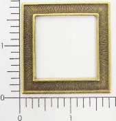 (Package Of 12) Simple Square Frame W/ Lines (Brass Ox)