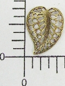 12 Pc Filigree Leaf Facing R. Brass Ox