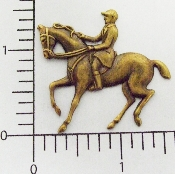 (Package Of 12) Horse,  English Rider (Brass Ox)
