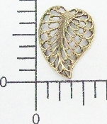12 Pc Filigree Leaf Facing L. Brass Ox