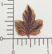 12 Pc Small Maple Leaf Jewelry Finding Stamping Copper Ox
