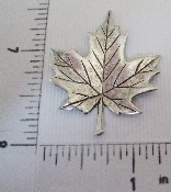 "1 Pc 1-1/2""  Flat Maple Leaf Jewelry Finding Matte Silver Ox"