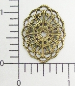 (Package of 12) Oval Filigree (Brass Ox)