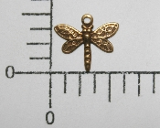 "(Package Of 12) 3/8"" Dragonfly Charm (Brass Ox)"