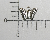 "3/8"" Butterfly Charm (Matte Silver Ox) (Package Of 12)"