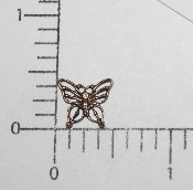 "(Package Of 12) 3/8"" Filigree Butterfly NR (Brass Ox)"