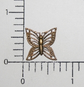"(Package Of 12) 5/8"" Filigree Butterfly NR (Brass Ox)"