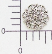 "(Package Of 12) 5/8"" Round Loopy Filigree (Matte Silver Ox)"
