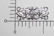(Package Of 12) Ornate Bar Shape Filigree (Matte Silver Ox)