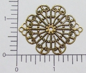 (Package Of 12) Lg. Diamond/Oval Filigree (Brass Ox)