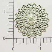 "(Package Of 12) 1-3/8"" Round Filigree (Matte Silver Ox)"