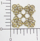 (Package Of 12) 4 Corner Lacey Filigree (Brass Ox)