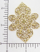 "(Package Of 12) Large Filigree - 2-1/2""  (Brass Ox)"