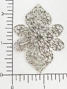 "(Package Of 12) Large Filigree - 2-1/2""  (Matte Silver Ox)"