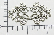 (Package Of 12) Ornate Victorian Filigree (Matte Silver Ox)