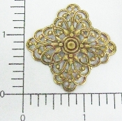 (Package Of 12) Dimensional Square Filigree (Brass Ox)