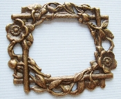 (Package Of 12) Victorian Floral Frame (Brass Ox)