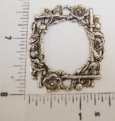 (Package Of 12) Victorian Floral Frame (Matte Silver Ox)