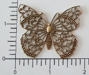 (Pkg. Of 12) Large Butterfly NR (Brass Ox.)