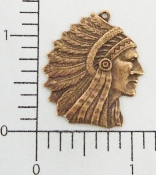 (Package Of 12) American Indian Charm (Copper Ox)