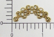(Package Of 12) Swirly Filigree Arch (Brass Ox)