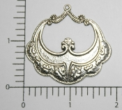 Open Victorian Dangle Charm Silver Ox (Package of 12)