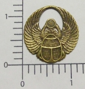 19543 - 12 Pc Large Round Wings Brass Ox