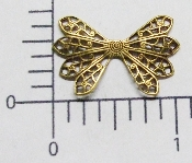 12 Pc Dapped Wing Shape Filigree Brass Ox