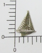 (Package Of 12) Small Sailboat NR (Matte Silver Ox)