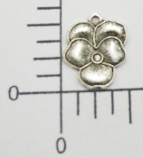"(Package of 12) 1/2"" Pansy Charm (Matte Silver Ox)"