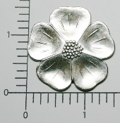 (Package of 12) Lg. Dogwood (Matte Silver Ox)
