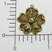 "(Package of 12) 1""  Dogwood Charm (Brass Ox)"