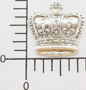 12 Pc Large Crown Matte Silver Ox Finding Stamping
