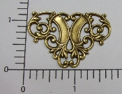(Package Of 12) Ornate Victorian Filigree (Brass Ox)