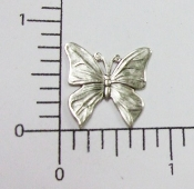 "(Package Of 12) 3/4"" Flat Butterfly - N/R (Matte Silver Ox)"