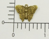 (Package Of 12) Small Butterfly Charm (Brass Ox)