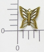 (Package Of 12) Filigree Butterfly Charm (Brass Ox)