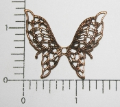 "(Package Of 12) 1-1/2"" Filigree Butterfly NR (Copper Ox)"