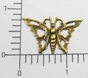 12 Pc Filigree Butterfly NR Finding Stamping Brass Ox