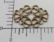 "(Package of 12) 1-1/4"" x 5/8"" Oval Filigree (Brass Oxidized)"