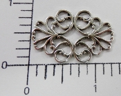 "(Package of 12) 1-1/4"" x 5/8"" Oval Filigree (Matte Silver Ox)"