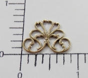 "5/8"" Triangle Filigree Finding Brass Oxidized (Package of 12)"
