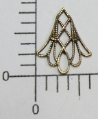 "12 Pc 3/4"" x 5/8"" Filigree Angel Skirt Brass Ox"