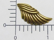 "(Package Of 12) 1-1/8"" x 3/4""  Angel Wing (Brass Oxidized)"